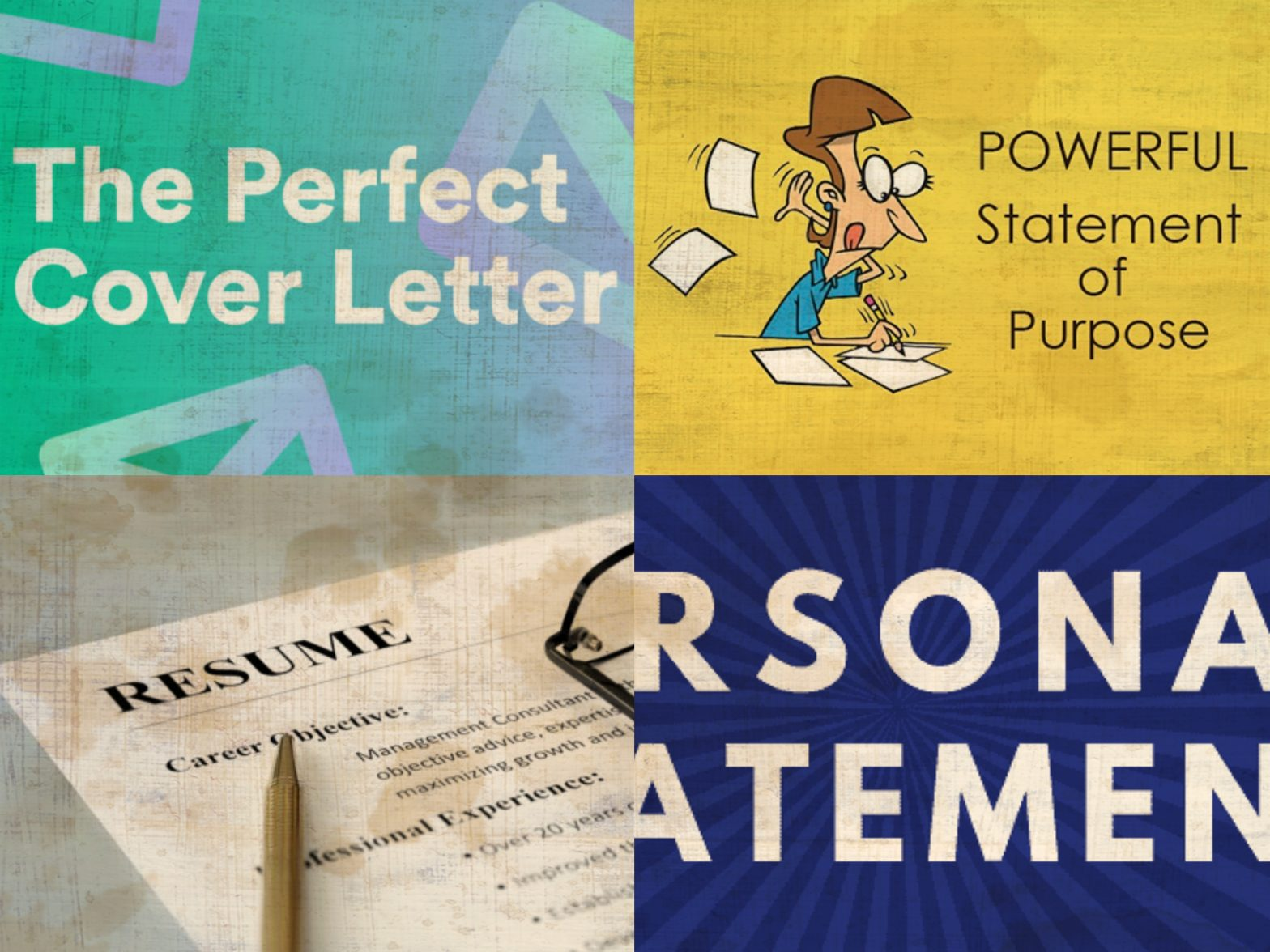 Cover Letters, Resumes & statements of purpose