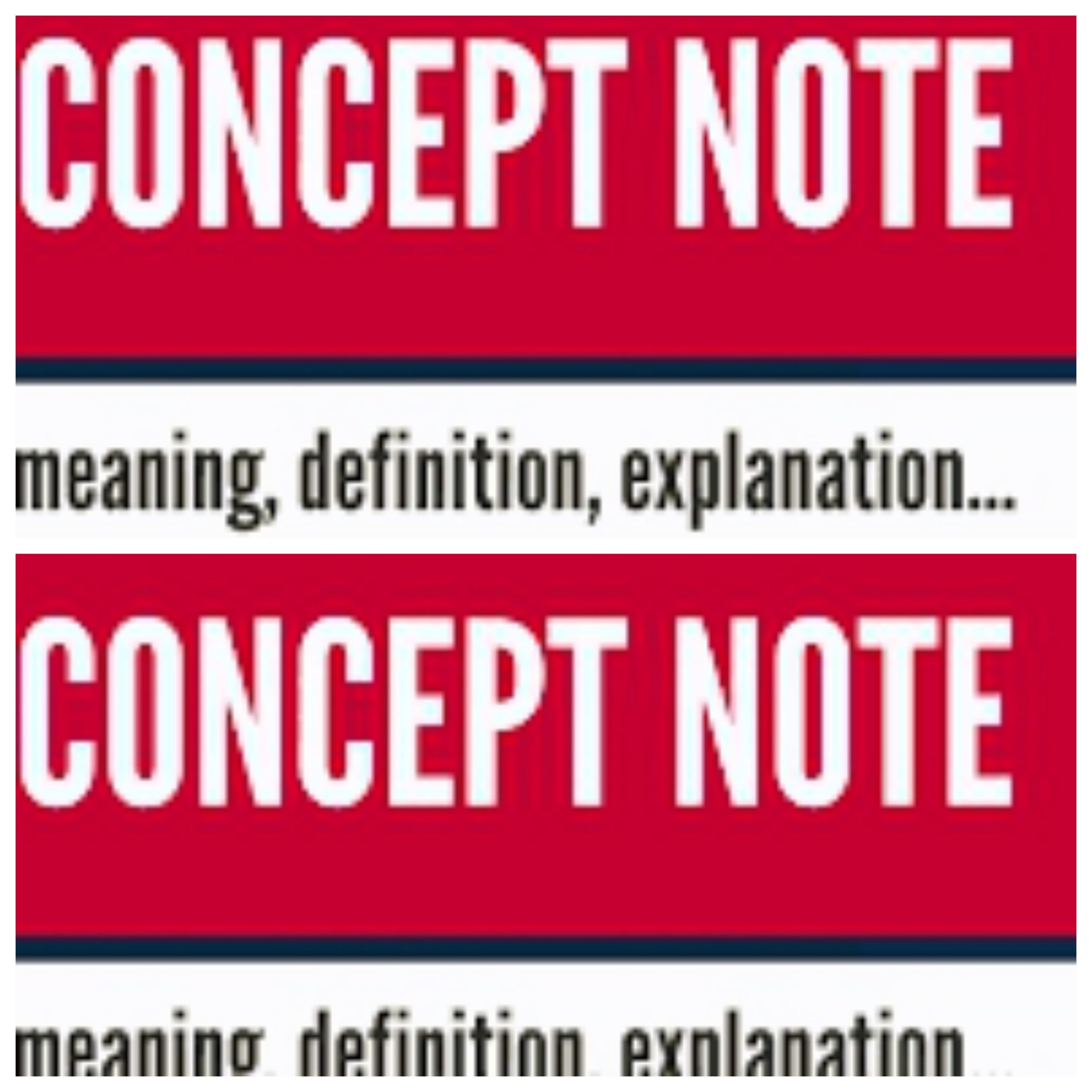 3 types of concept notes